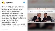 Renault renégocie son alliance avec Nissan pour s'unir avec Fiat