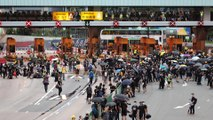 Protesters block Hong Kong cross-harbour tunnel, as anti-government march is held in Mong Kok