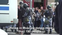Police detain almost 200 at Moscow rally: protest monitor