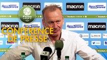 Conférence de presse AJ Auxerre - Le Mans FC (2-0) : Jean-Marc FURLAN (AJA) - Richard DEZIRE (LEMANS) - 2019/2020