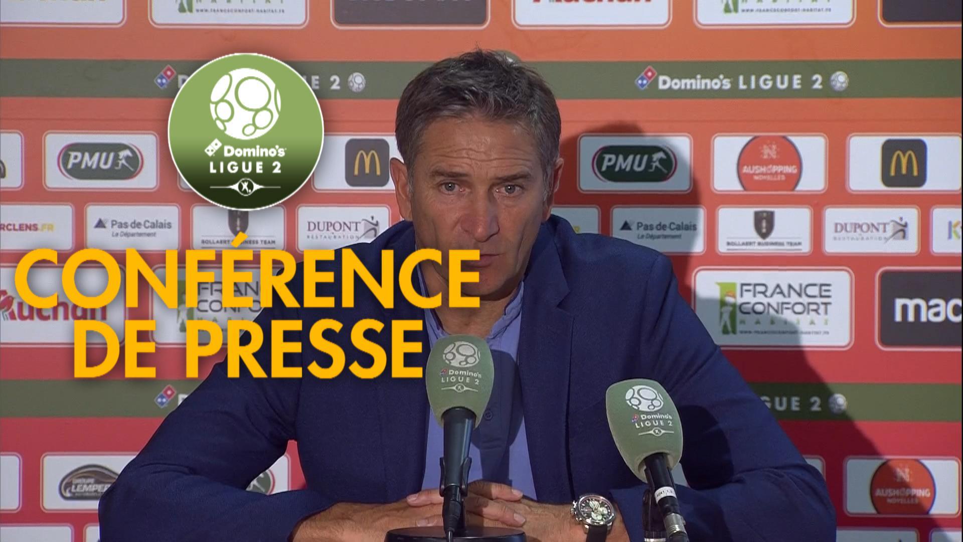 Conférence de presse RC Lens - EA Guingamp (2-0) : Philippe  MONTANIER (RCL) - Patrice LAIR (EAG) - 2019/2020