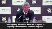 (Subtitled) 'Maguire announced very soon' - Solskjaer