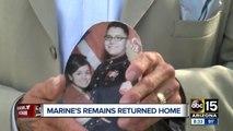 Marine's remains returned home