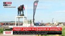 Franky Zapata vient de quitter la plage de Sangatte à bord de son Flyboard - Il tente de nouveau de traverser la Manche - VIDEO