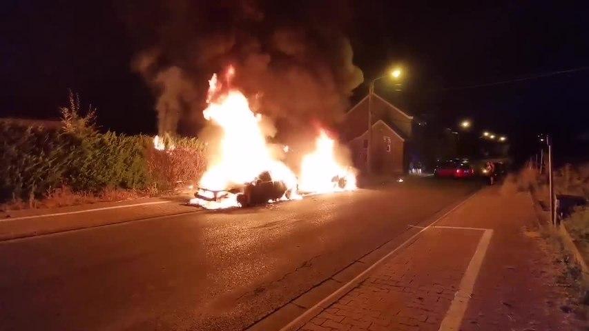 Incendie voitures Dampremy