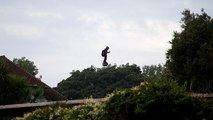 Watch: Frenchman successfully crosses Channel on 'hoverboard' in second attempt