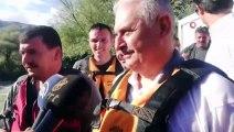 Son Başbakan Binali Yıldırım, Erzincan'da rafting yaptı