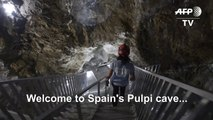 Giant crystal cavern in Spain opens to public