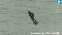 Flyboard : l'exploit de Zapata vu depuis un hélicoptère