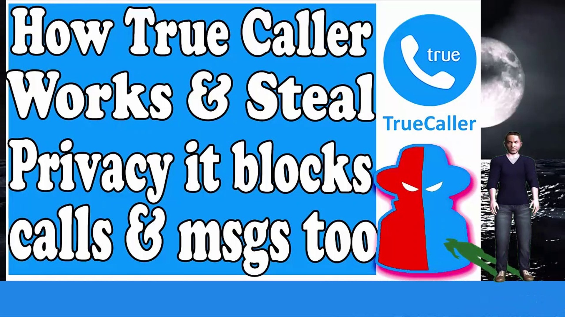 ||How true caller works & steal your privacy | It blocks your calls and SMS | We allowed all per