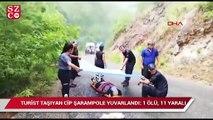 Safari cipi devrildi 7'si turist 11 yaralı