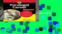 [Doc] Paralegal Career For Dummies (For Dummies (Career/Education))