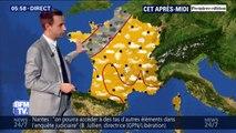 La pluie fait une entrée timide par l'ouest de la France ce lundi