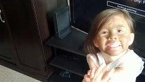 Little Girl's Big Sister Impersonation