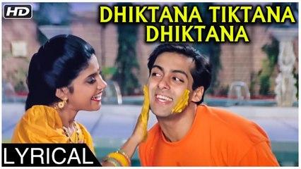Dhiktana Tiktana Dhiktana | Version 1 | Lyrical | Hum Aapke Hain Koun | Salman Khan, Madhuri Dixit