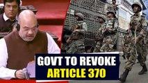 Home Minister Amit Shah proposes revocation of Article 370