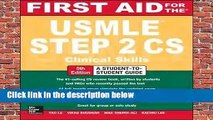 [Doc] First Aid for the USMLE Step 2 CS, Fifth Edition (First Aid USMLE)