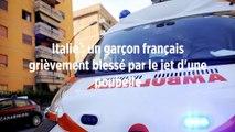 Italie : un garçon français grièvement blessé par le jet d'une poubelle