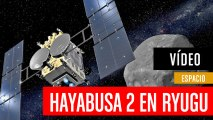 Sonda Hayabusa 2 aterrizando en Ryugu
