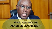 What you will be asked on census night
