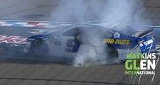 Elliott finally gets to burnout at Watkins Glen