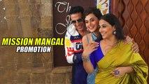 Akshay Kumar, Vidya Balan & Taapsee Pannu promoting their film Mission Mangal   Candid Moments