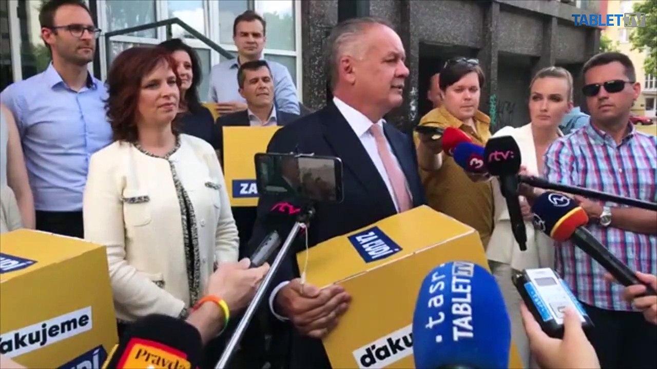 ZÁZNAM: Brífing exprezidenta SR Andreja Kisku