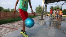 12-year-old dubbed the 'Indian Messi' shows off his extraordinary football skills