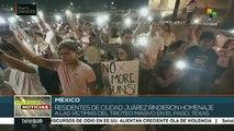 Mexicanos de Ciudad Juárez recuerdan a víctimas de masacres en EE.UU.