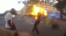 Des flics mettent le feu à un homme noir à Paris