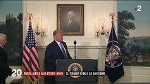 Fusillades aux États-Unis : Donald Trump condamne pour la première fois le suprémacisme blanc