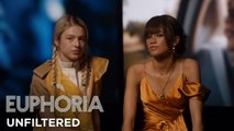 euphoria - unfiltered: zendaya and hunter schafer on rue and jules - HBO