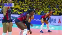 BRAZIL vs. DOMINICAN REPUBLIC - Highlights Women _ Volleyball Olympic Qualification 2019