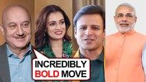 Bollywood Stars EPIC REACTION On Article 370   Kangana, Dia Mirza, Vivek Oberoi, Paresh Rawal