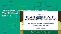 Full E-book  Global Entrepreneur: Taking Your Business International  Best Sellers Rank : #3