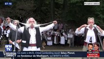Le concours de la plus longue moustache avait lieu dimanche à Rekovac, en Serbie