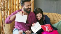 Vj manimegalai cute picture with hubby(Tamil)