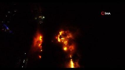Yanan Fındık Fabrikası Havadan Görüntülendi