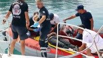 Falezlerden atlayan genç ağır yaralandı