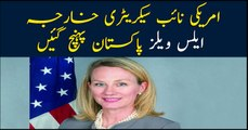 US senior official Alice Wells arrives in Pakistan
