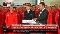 Gard: Emu aux larmes, le ministre de l'Intérieur, Christophe Castaner, rend hommage à Franck Chesneau, pilote décédé dans le crash d'un bombardier d'eau - VIDEO