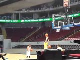 Jon Sheriff Practicing Free Throws Before UAAP Finals Game One