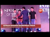 THE LETRAN KNIGHTS ARE GIVEN THE SPIN.PH AWARD FOR SPORTSMEN WHO SUCCEED AS ONE