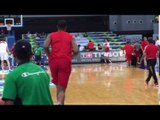 Tristan Thompson warming up for Canada's game against Turkey in Fiba OQT Manila