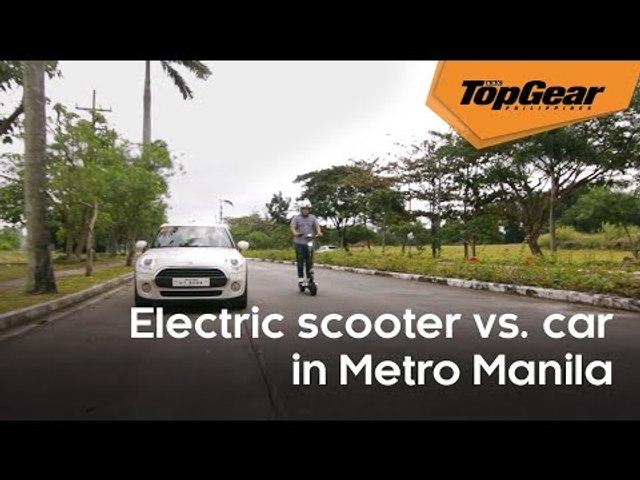 Feature: Car vs. electric scooter in Metro Manila traffic
