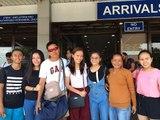 Sisi Rondina's family arrives in Manila