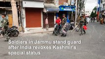 High security in Jammu and Kashmir after India's Kashmir move