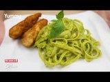 Creamy Malunggay Pesto and Chicken Pasta