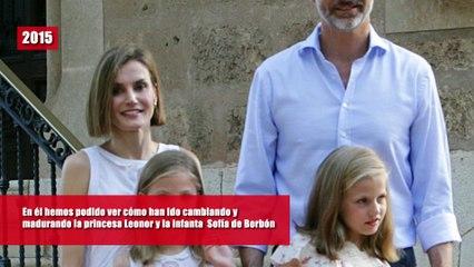 El increíble cambio de la princesa Leonor y la infanta Sofía de Borbón