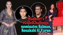Madhuri takes #GulelChallenge, nominates Salman, Sonakshi & Varun